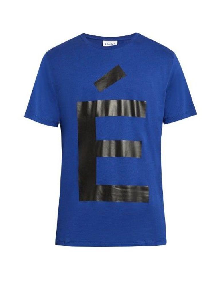Accent-print crew-neck cotton T-shirt