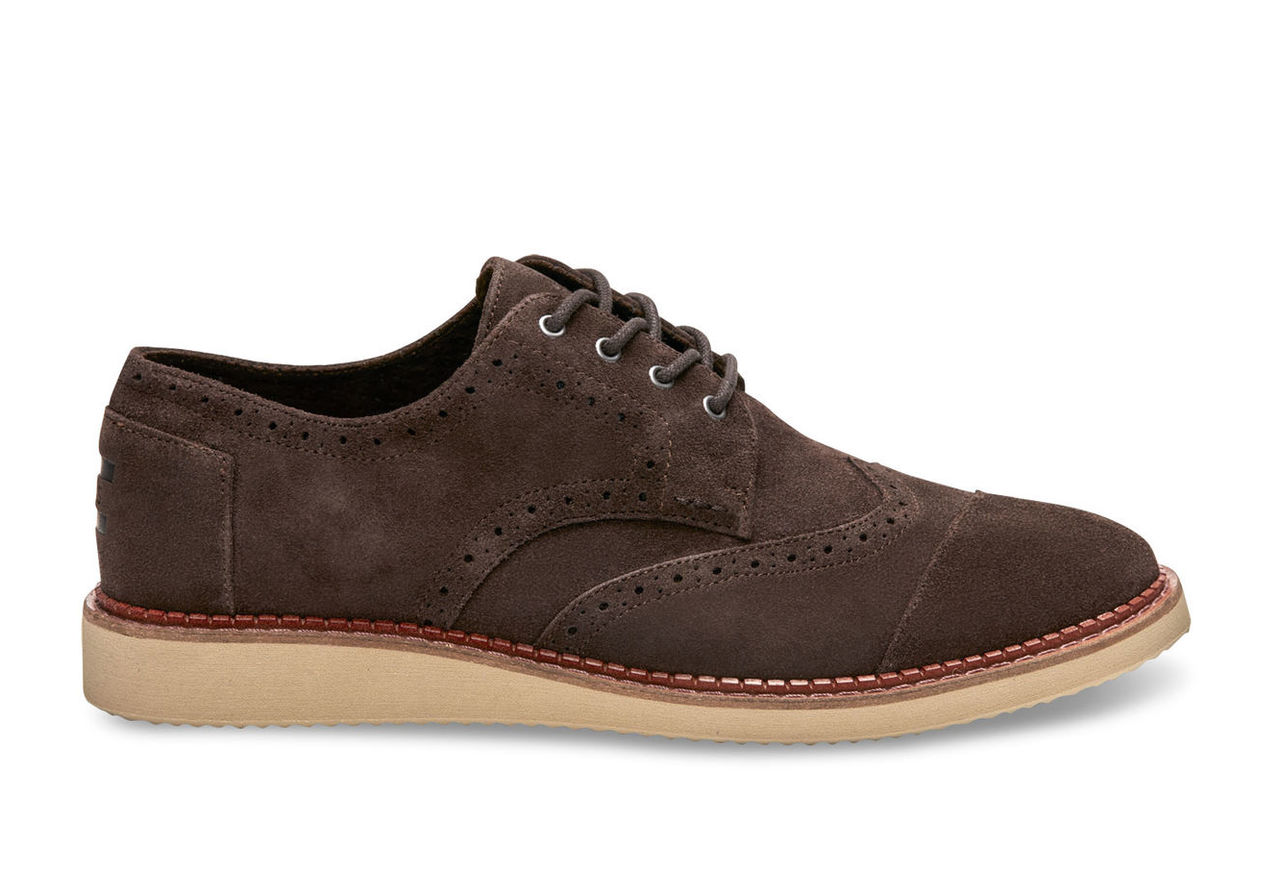 Chocolate Brown Suede Men's Brogues