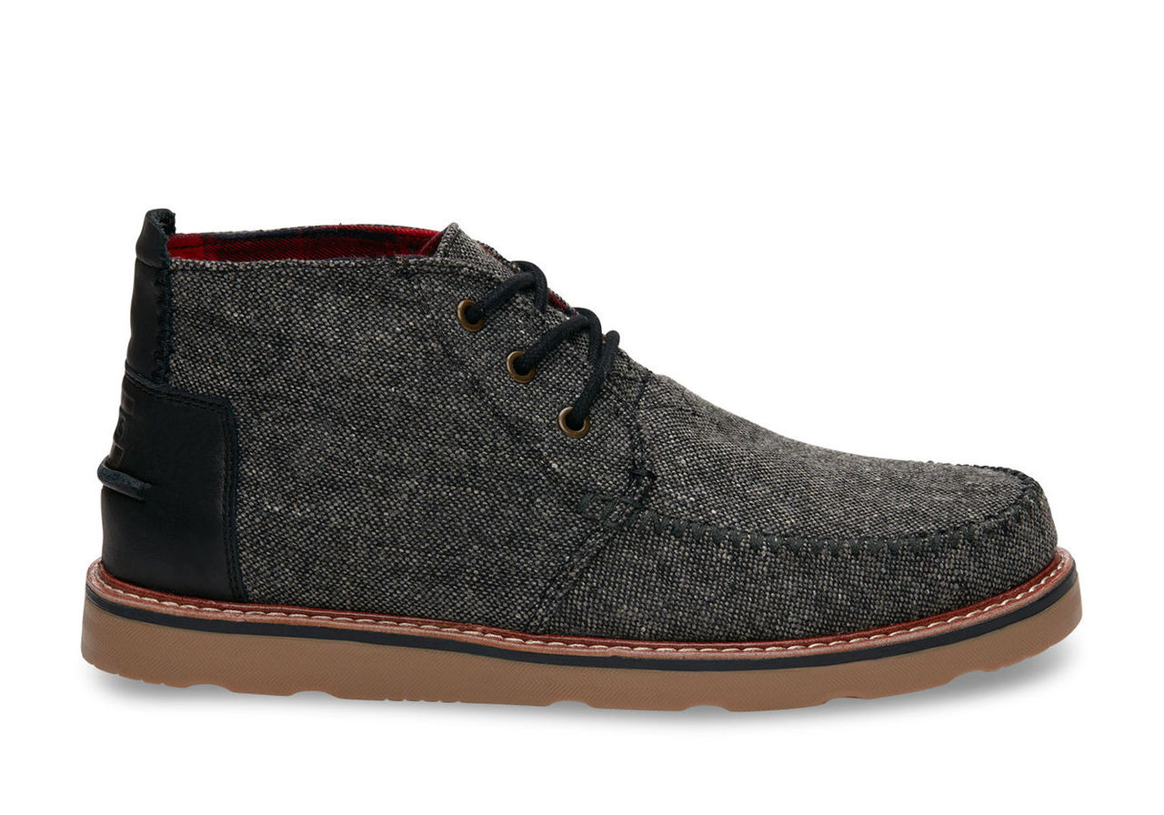 Charcoal Fleck Men's Chukka Boots