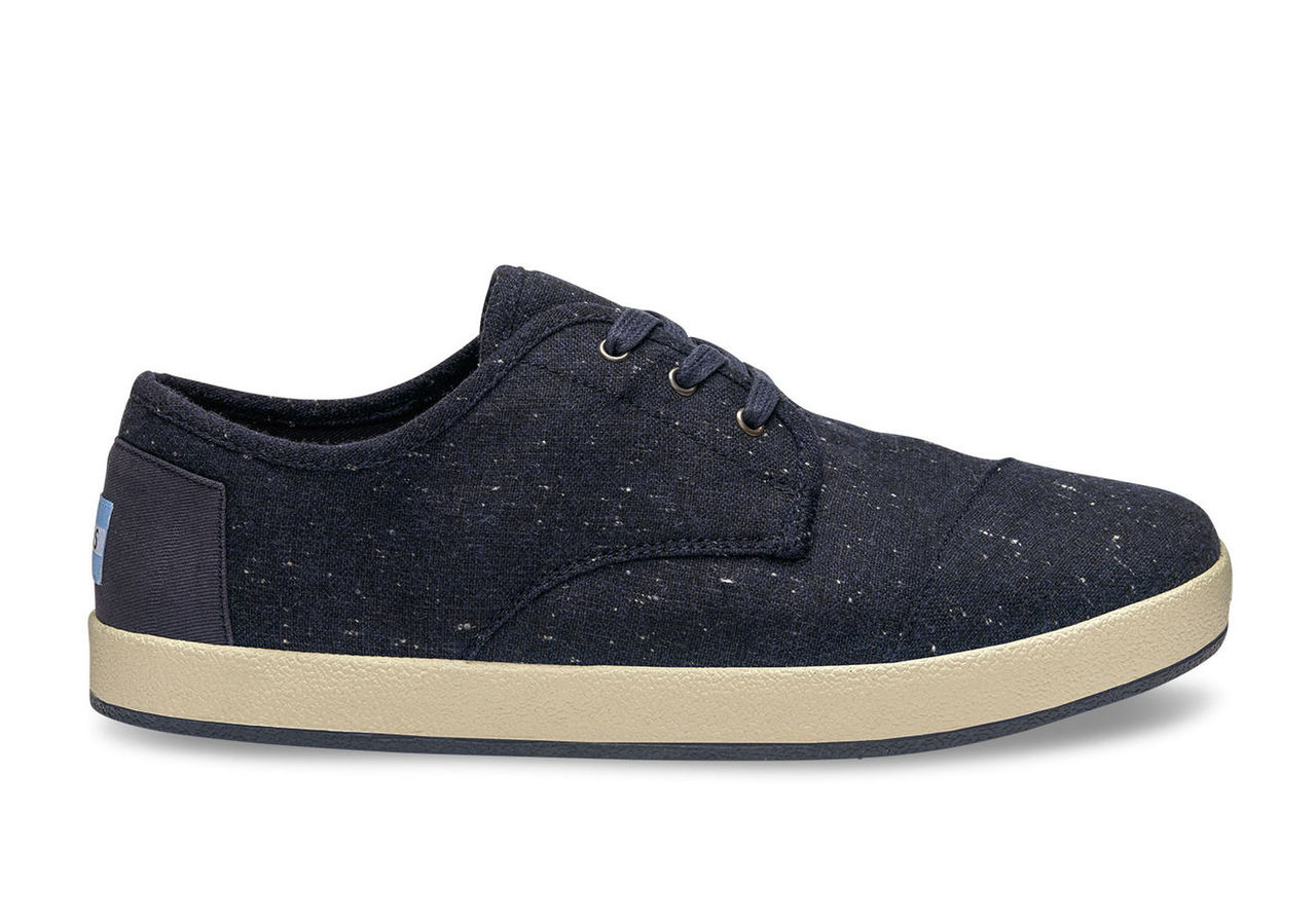 Navy Fleck/Wool Men's Paseos