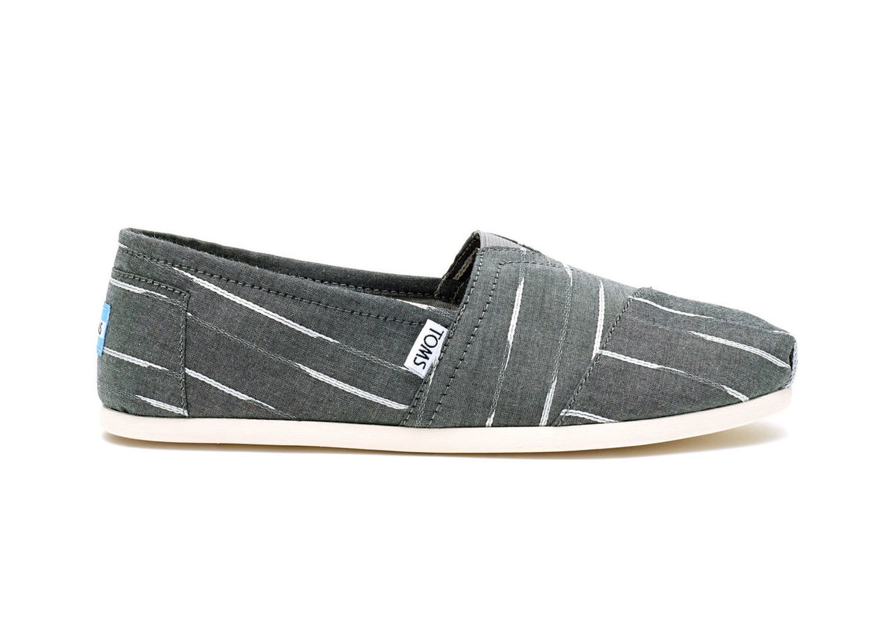 Grey White Mini Stripe Men's Classics