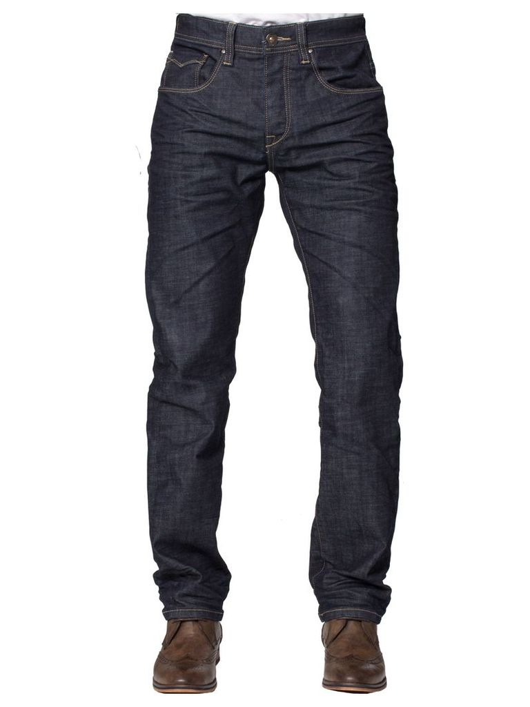 Mens Dark Wash Straight Fit Jeans