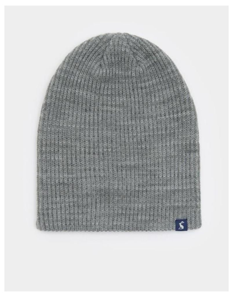 Grey Marl Retreat Knitted Hat  Size One Size   Joules UK