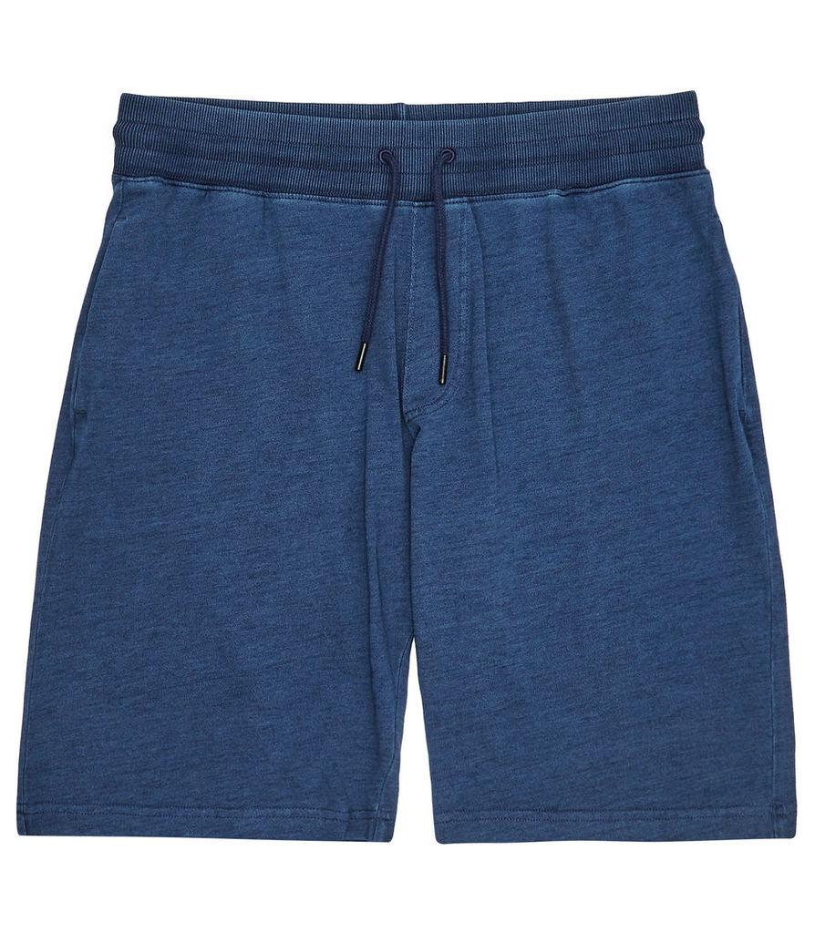 REISS Maldive - Mens Jersey Shorts in Blue