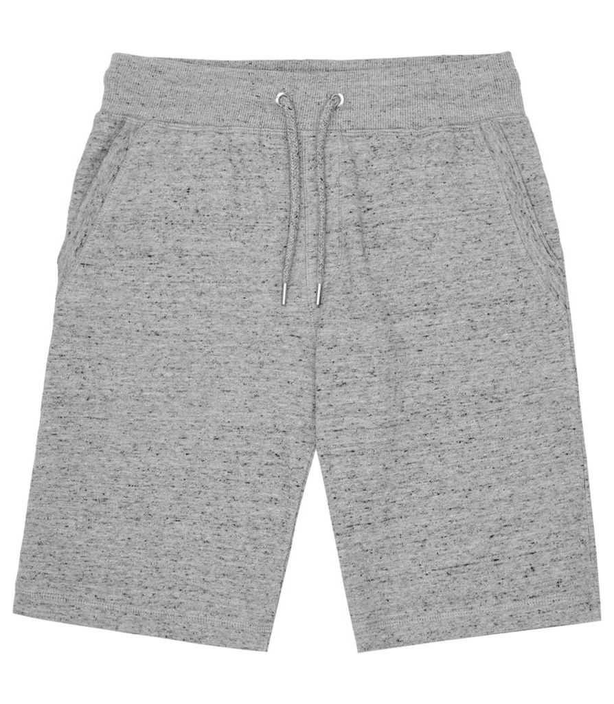 REISS Gull - Mens Flecked Drawstring Shorts in Grey