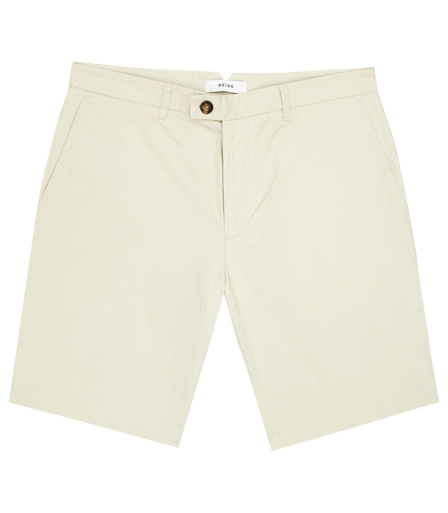 Reiss Wicker - Tailored Chino Shorts in Stone, Mens, Size 28