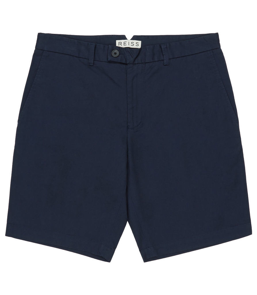 REISS Wicker - Mens Tailored Chino Shorts in Blue