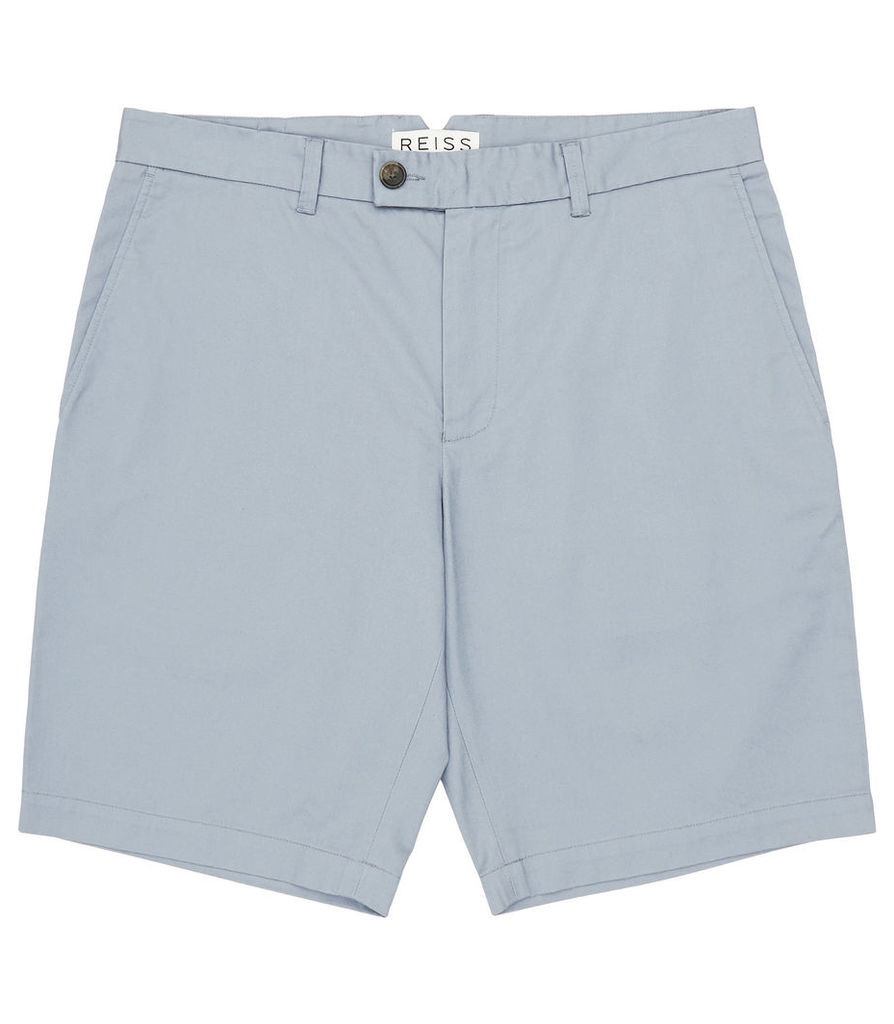 Reiss Wicker - Tailored Chino Shorts in Ice Blue, Mens, Size 28