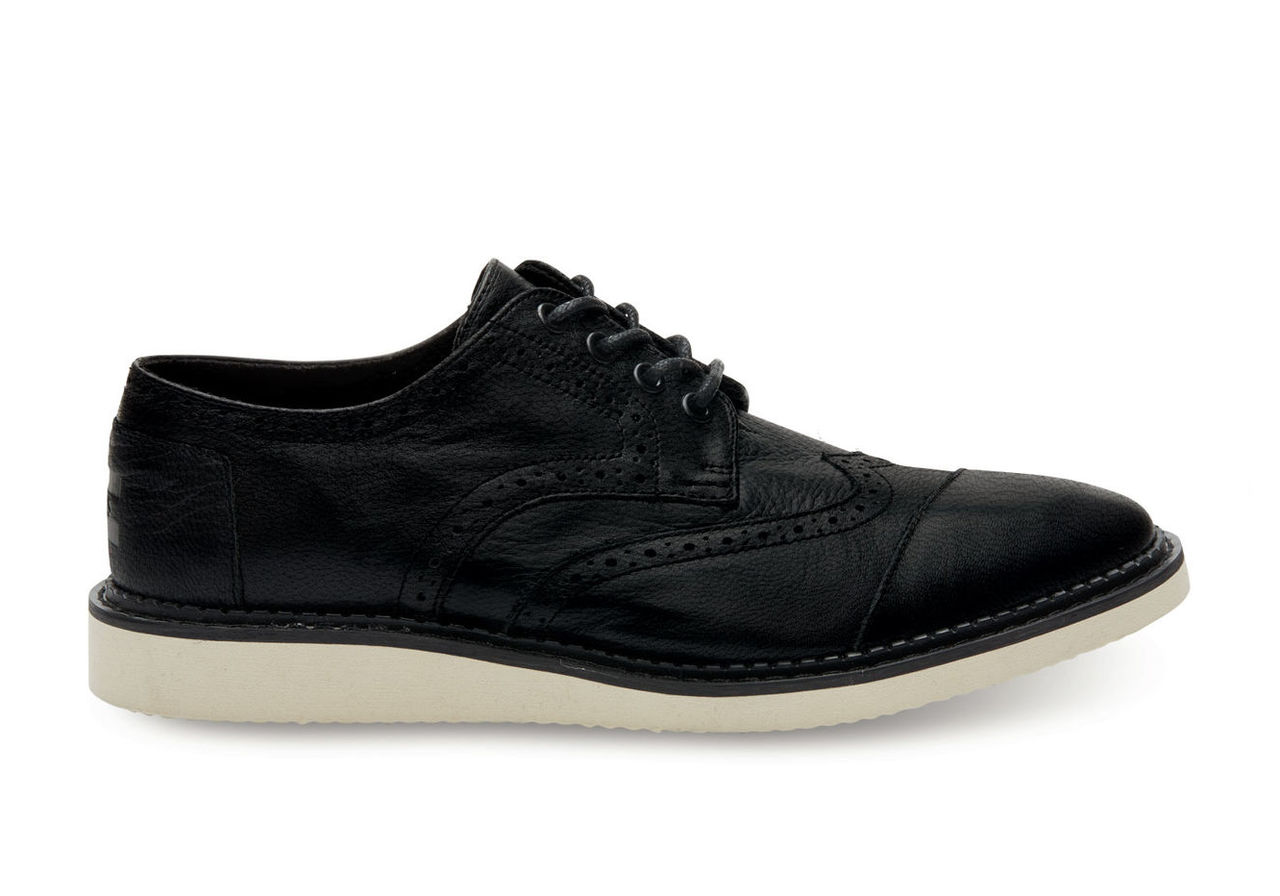 Black Full Grain Leather Men's Brogues