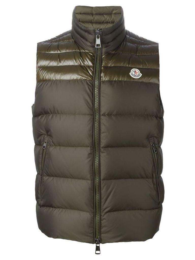 Moncler 'Dupres' padded gilet, Men's, Size: 6, Green