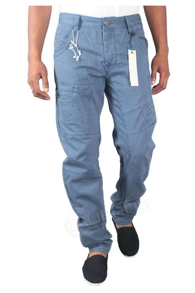 Mens Twisted Fit Light Blue Chinos