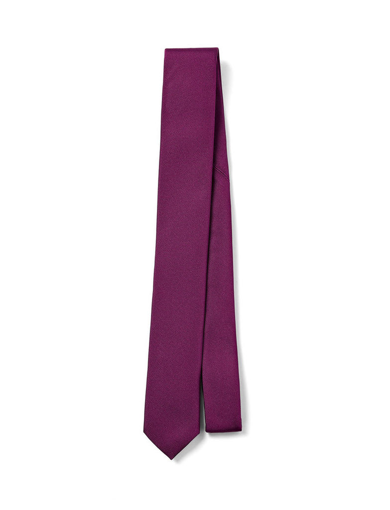 Ribbed Silk Tie in Oxblood