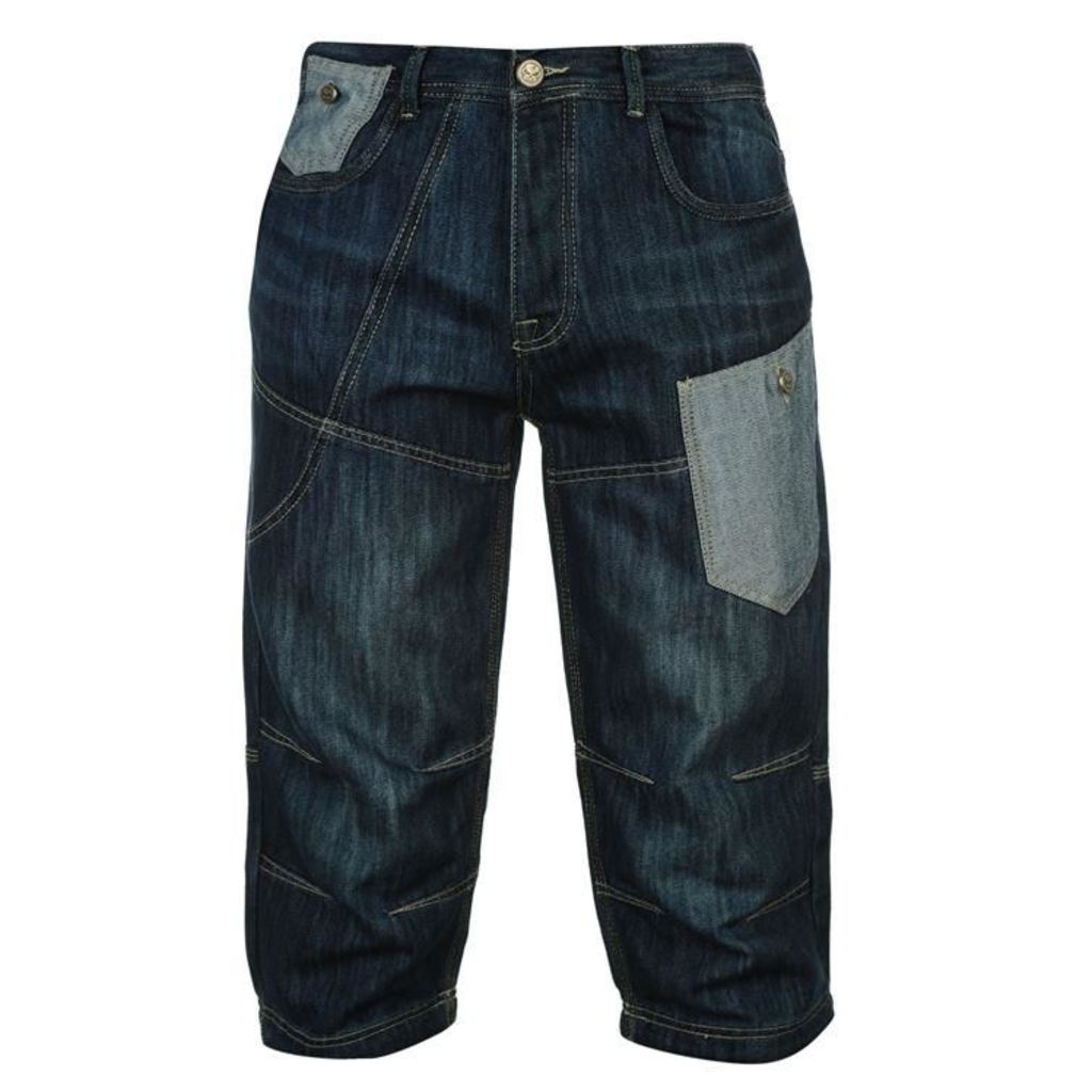 Fear Long Denim Shorts