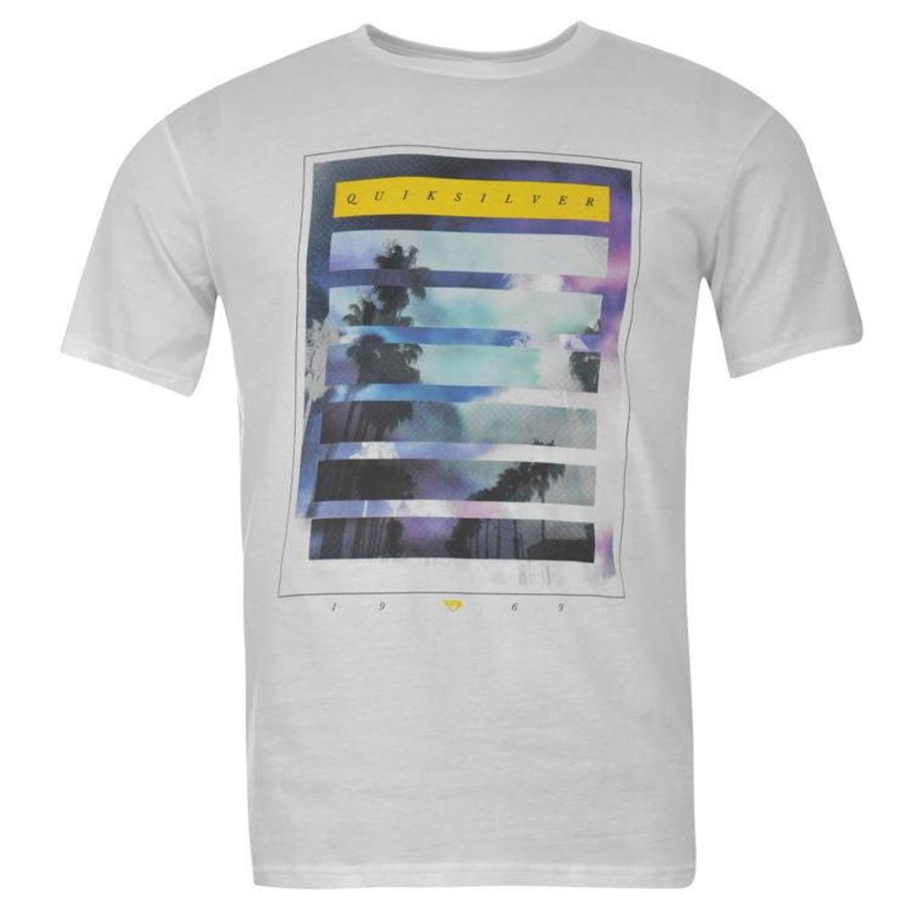 Quiksilver Neon Grey T Shirt Mens