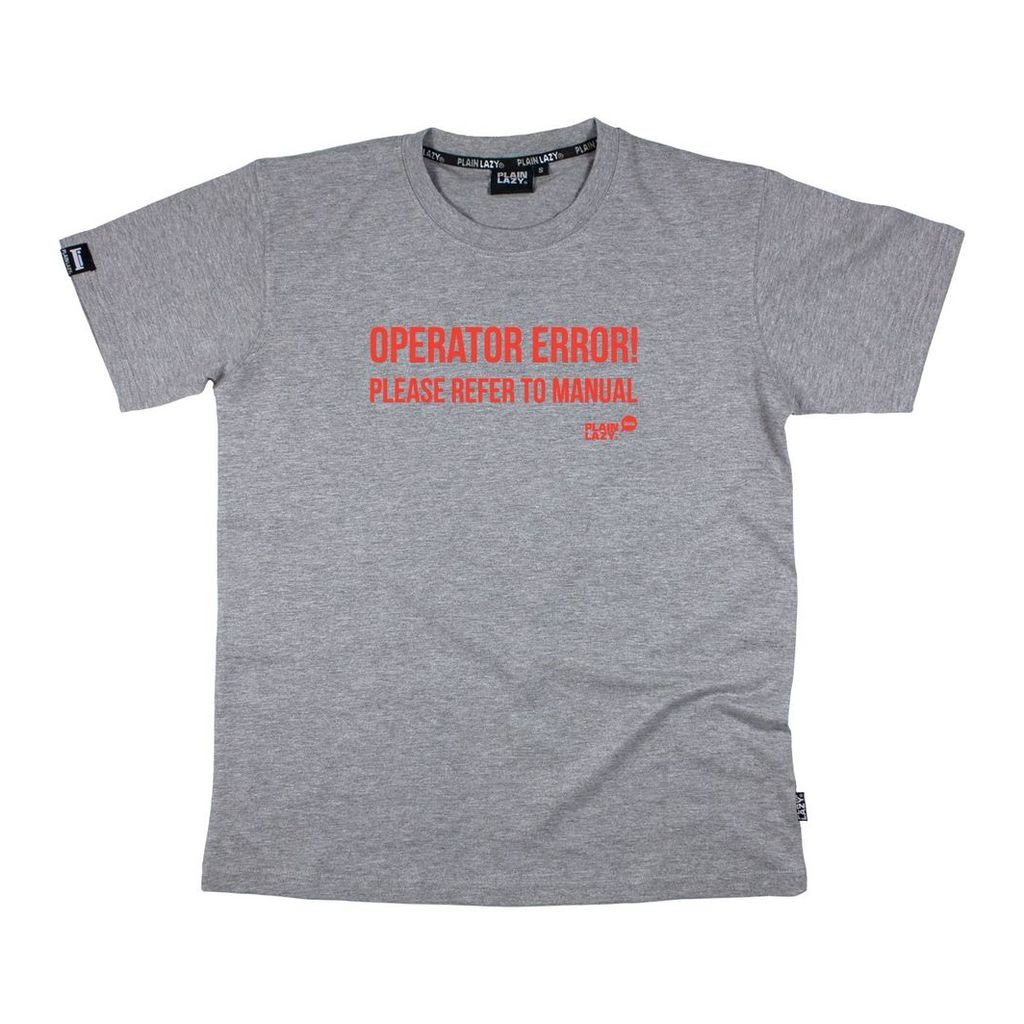 OPERATOR ERROR PLEASE REFER TO MANUAL GREY MARLE MENS T-SHIRT