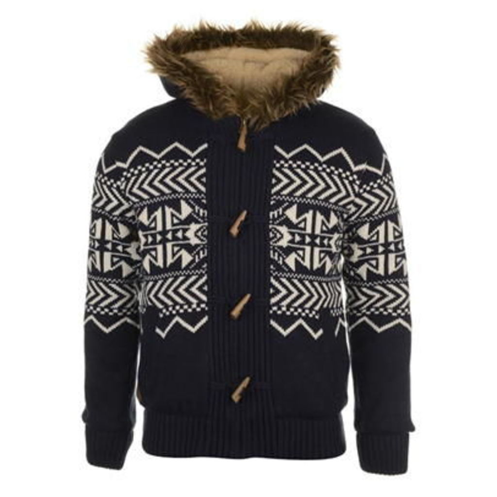SoulCal Full Zip Lined Knit Jumper