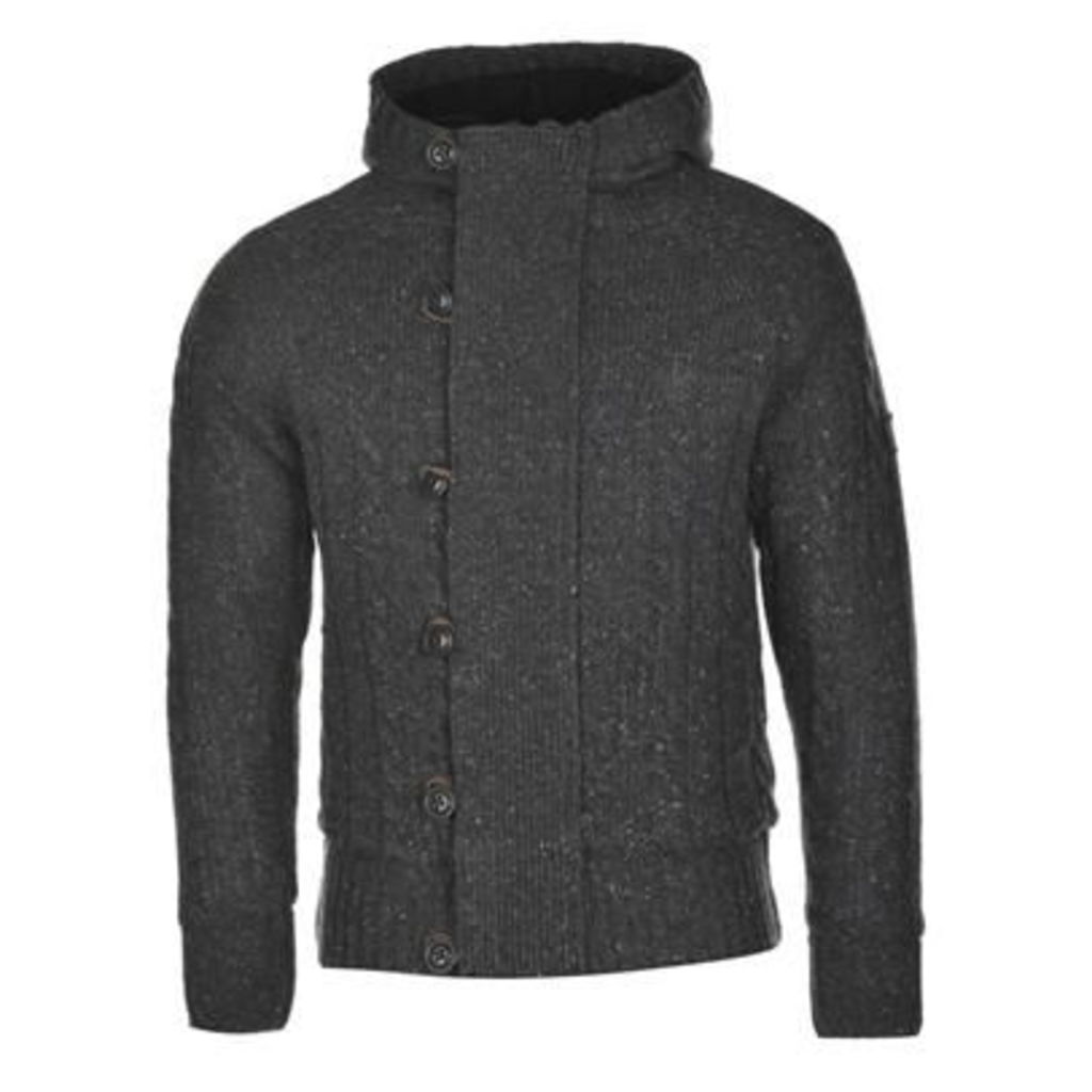 Firetrap Lined Neppy Knitted Cardigan