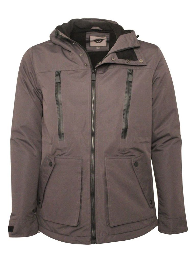 Mens Jacket With Zip Detail Eston Hoody Grey