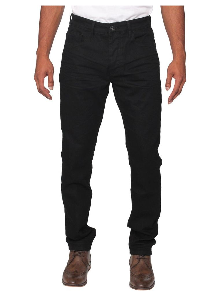 Mens Stretch Tapered Fit Black Jeans