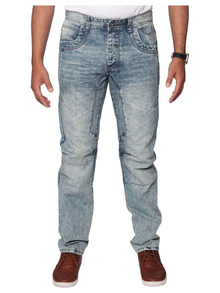 Mens  Anti Fit Acid Wash Denim Jeans