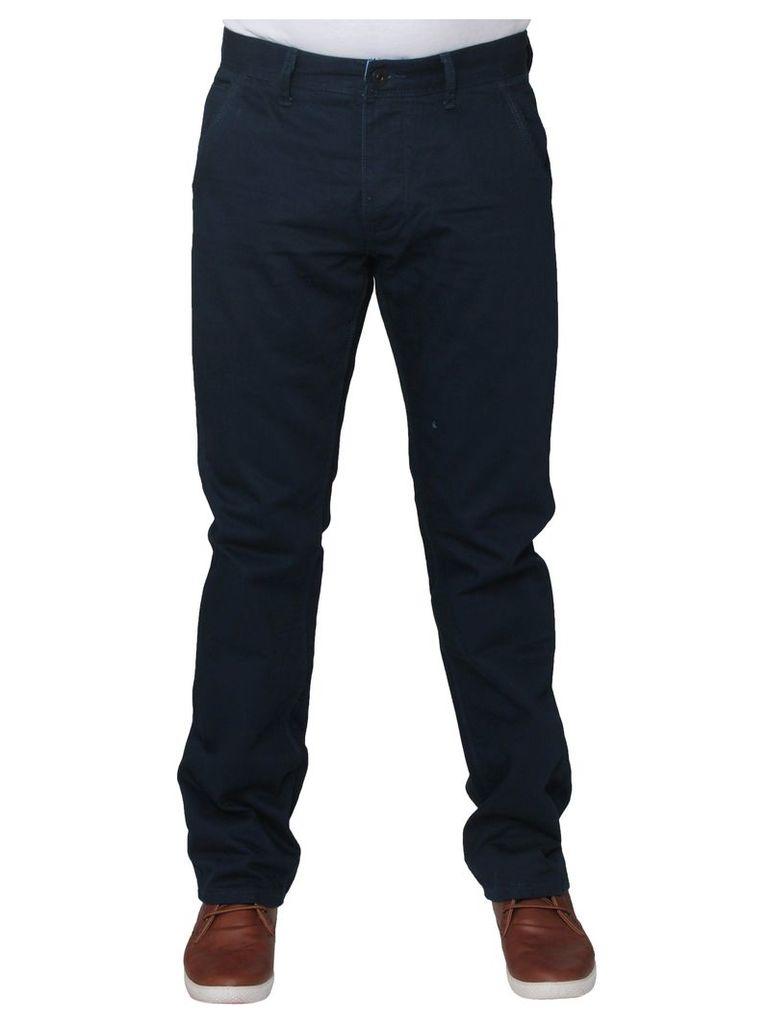 Mens Navy Stretch Straight Leg Jeans