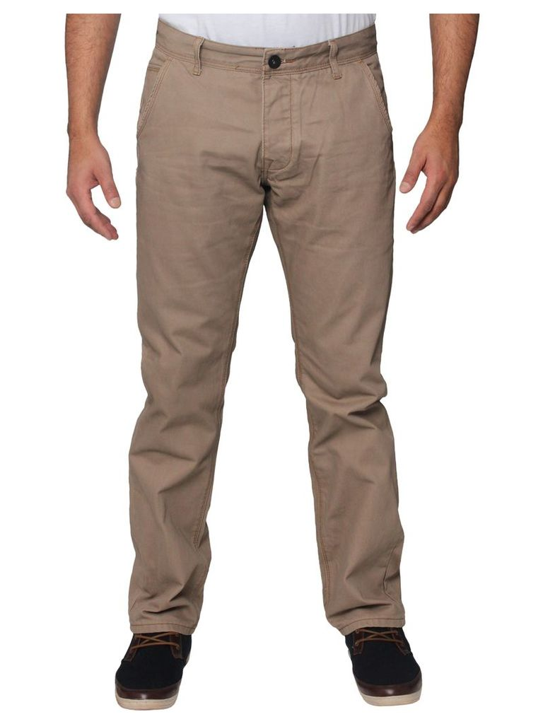Mens Taupe Straight Leg Jeans