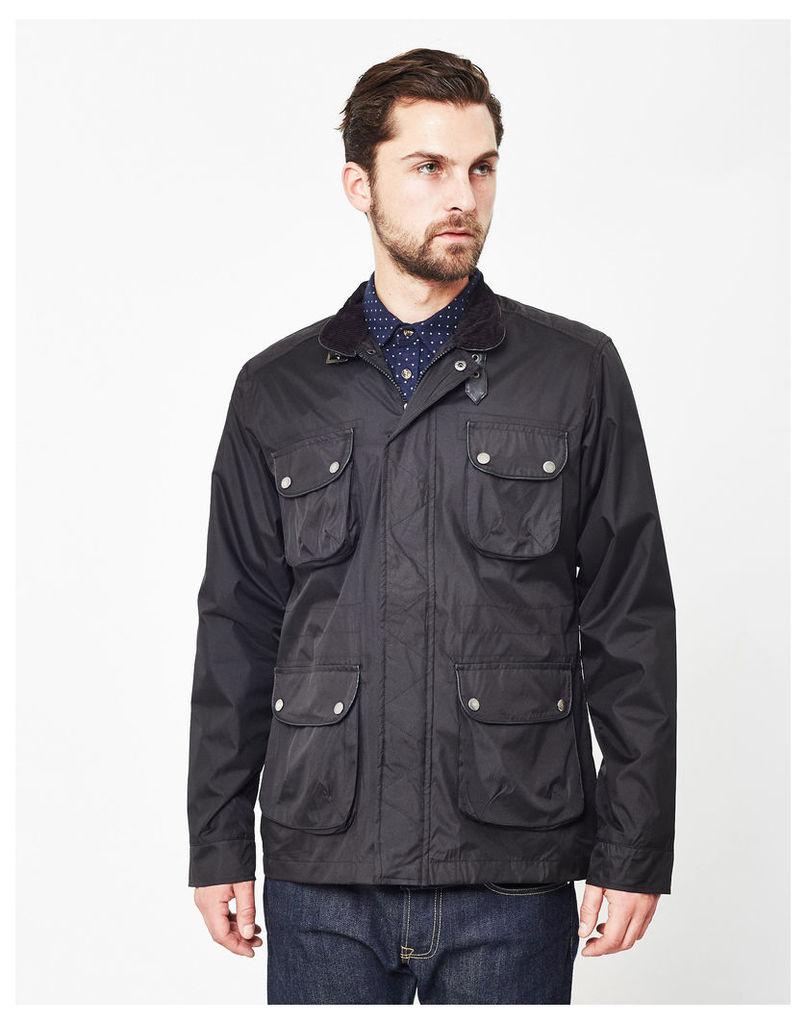 The Idle Man Coated Field Jacket Black
