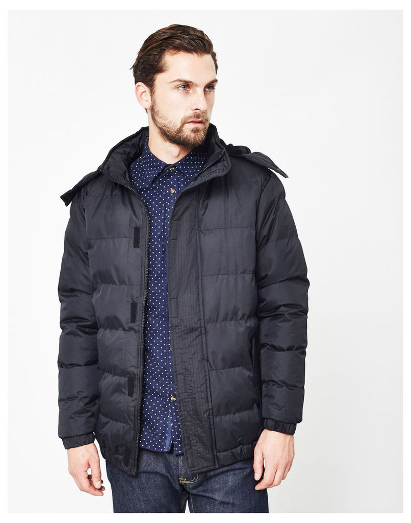 The Idle Man Puffer Jacket Black