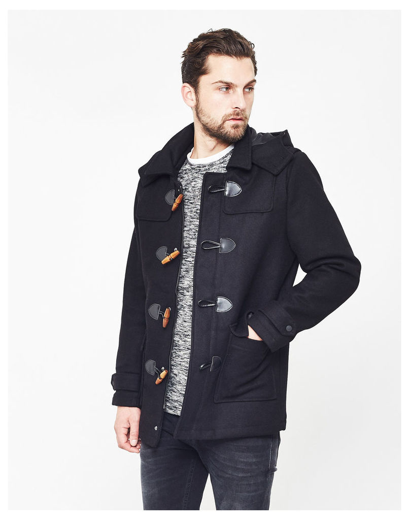 Only & Sons Orville Duffle Coat Black