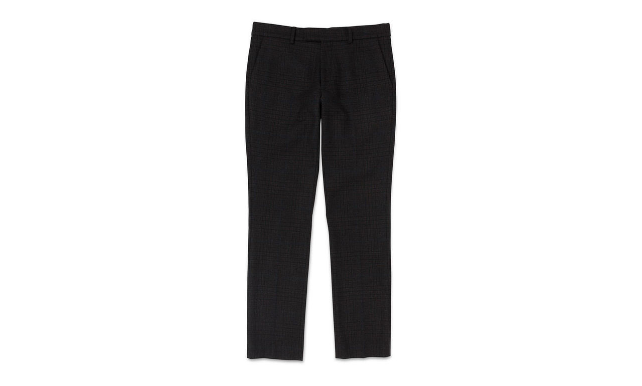 Slim-Fit Checked Trousers
