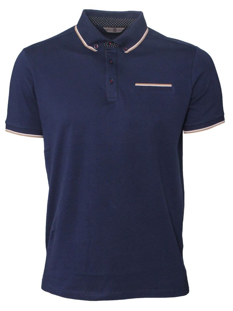 Connect Mens Short Sleeved Navy Polo