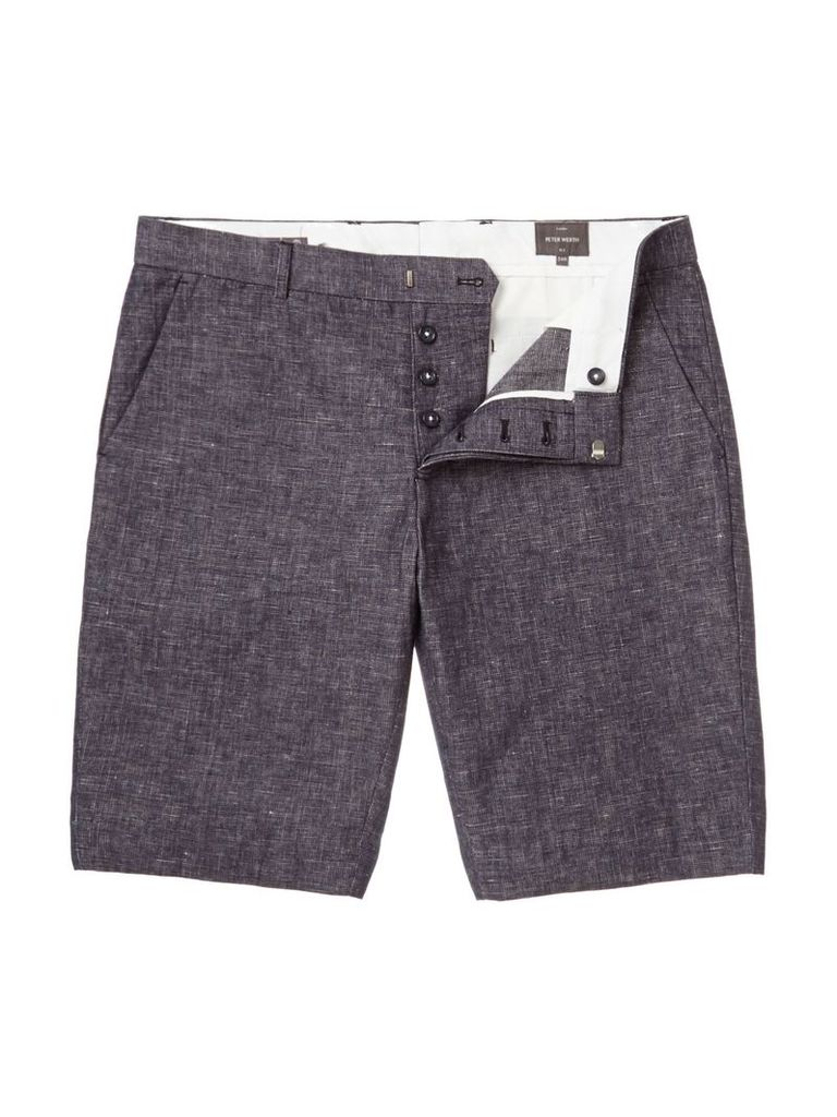 Men's Peter Werth Ronald Cotton Shorts, Navy