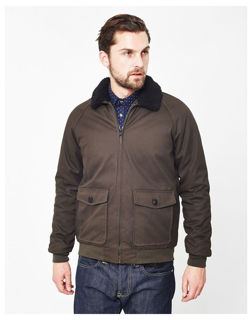The Idle Man Sherpa Jacket Green