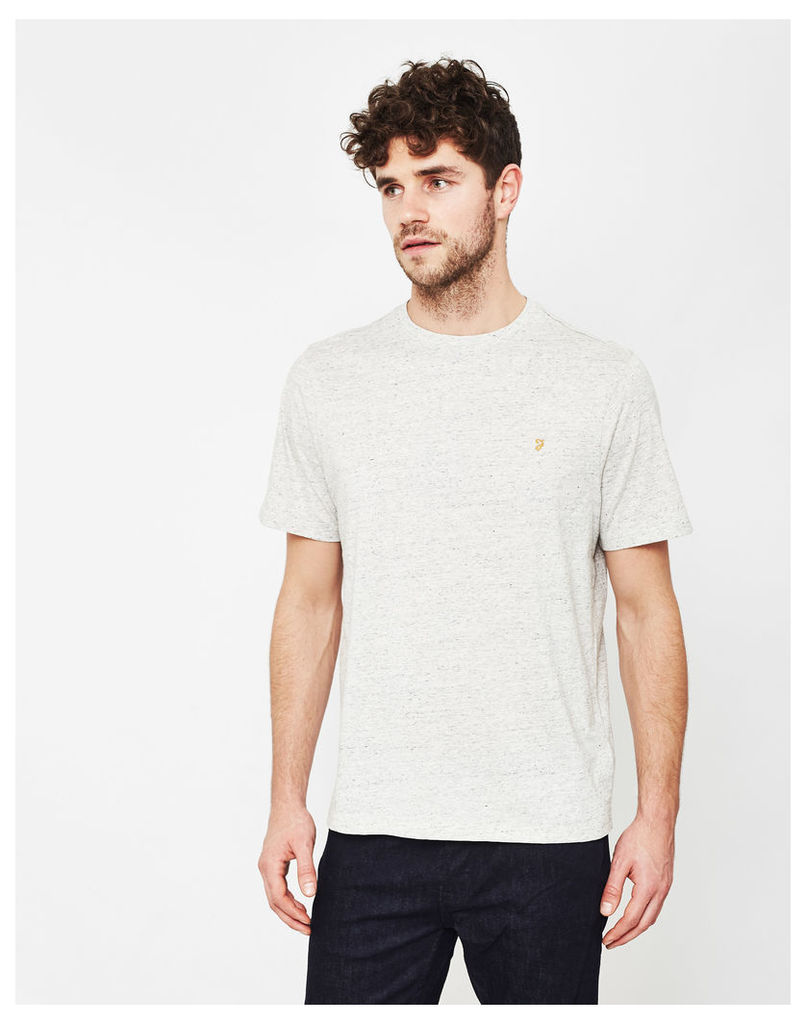 Farah Denny Marl Short Sleeve T-Shirt Beige