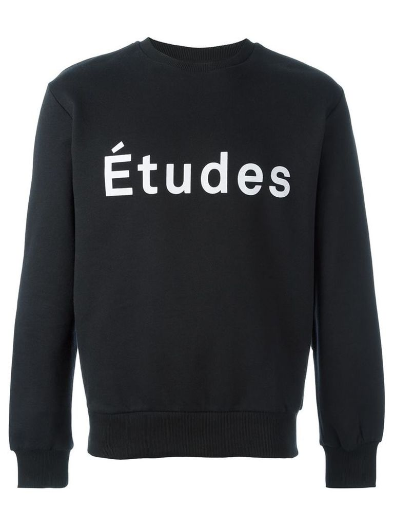Études logo print sweatshirt, Men's, Size: Large, Black
