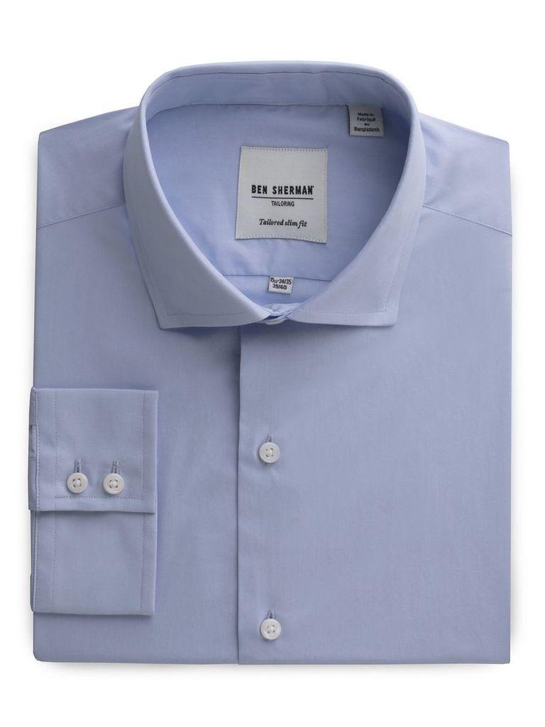 Slim Fit Poplin Shirt 18 Cashmere Blue