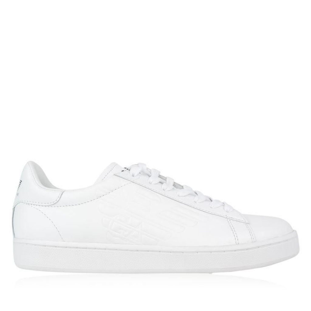 EA7 Leather Court Trainers