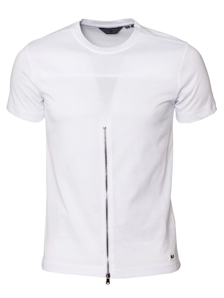 Lawless Mens Crew Neck White T-Shirt