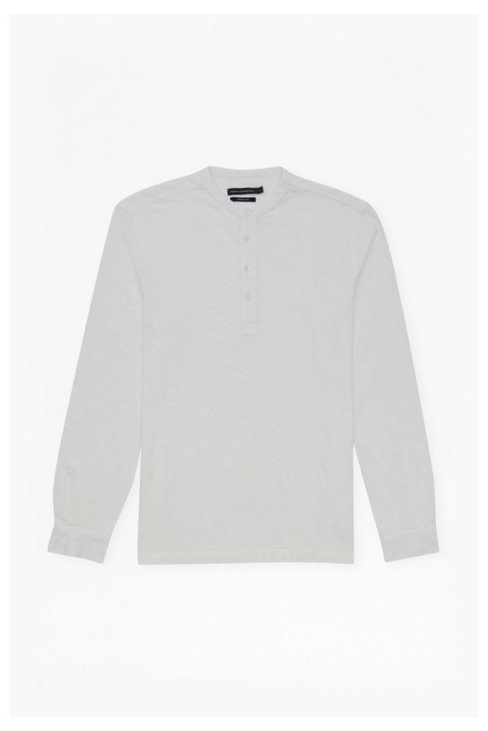 JERSEY HALF PLACKET SHIRT - White