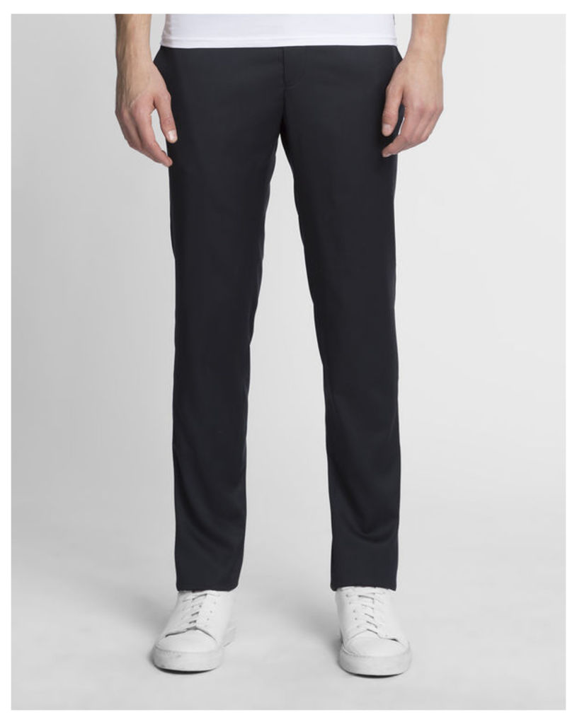 Navy blue Micro Wool Trousers