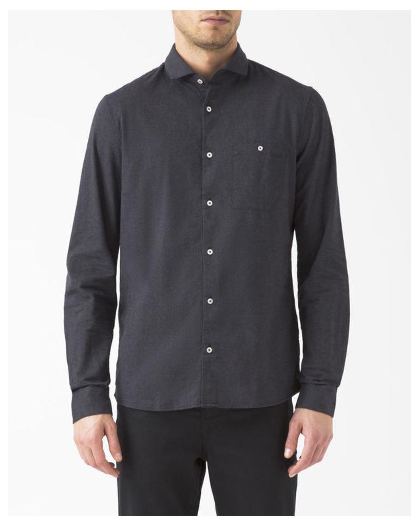 Anthracite Grey Brushed Oxford Shirt