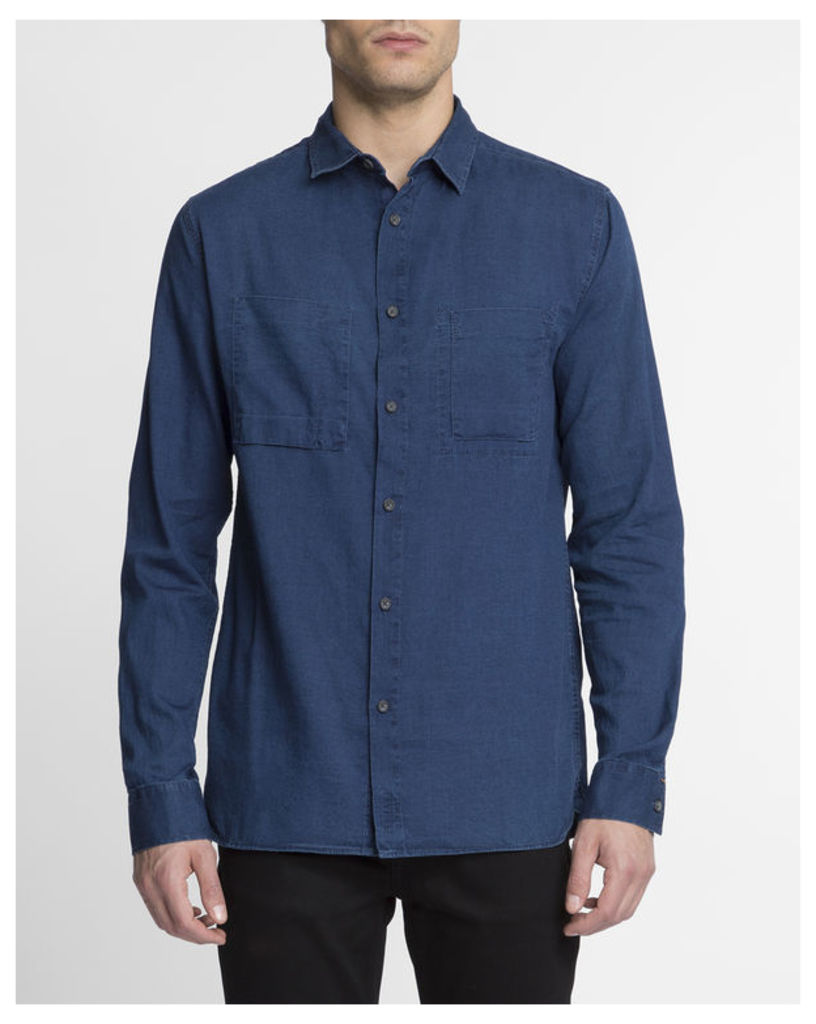 Dark Blue Warren Shirt