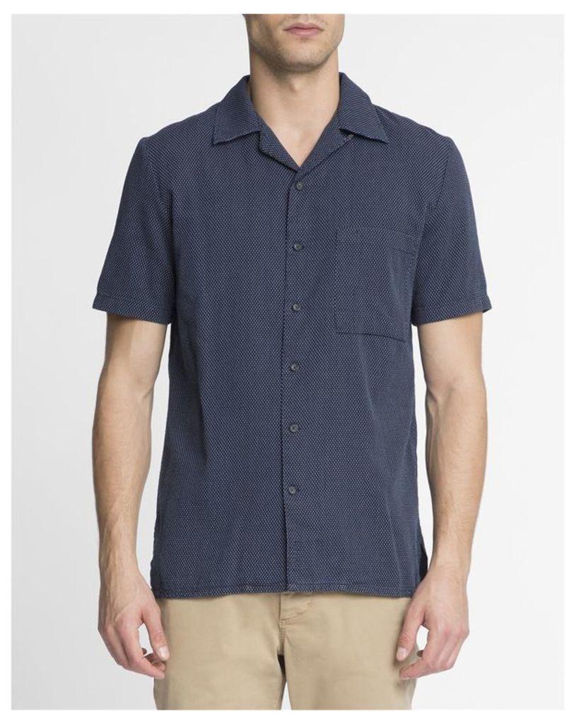 Navy Blue Micro-Dot MC Brandon Shirt