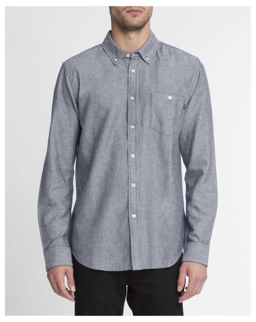 Navy Blue Woven Wiseman Shirt