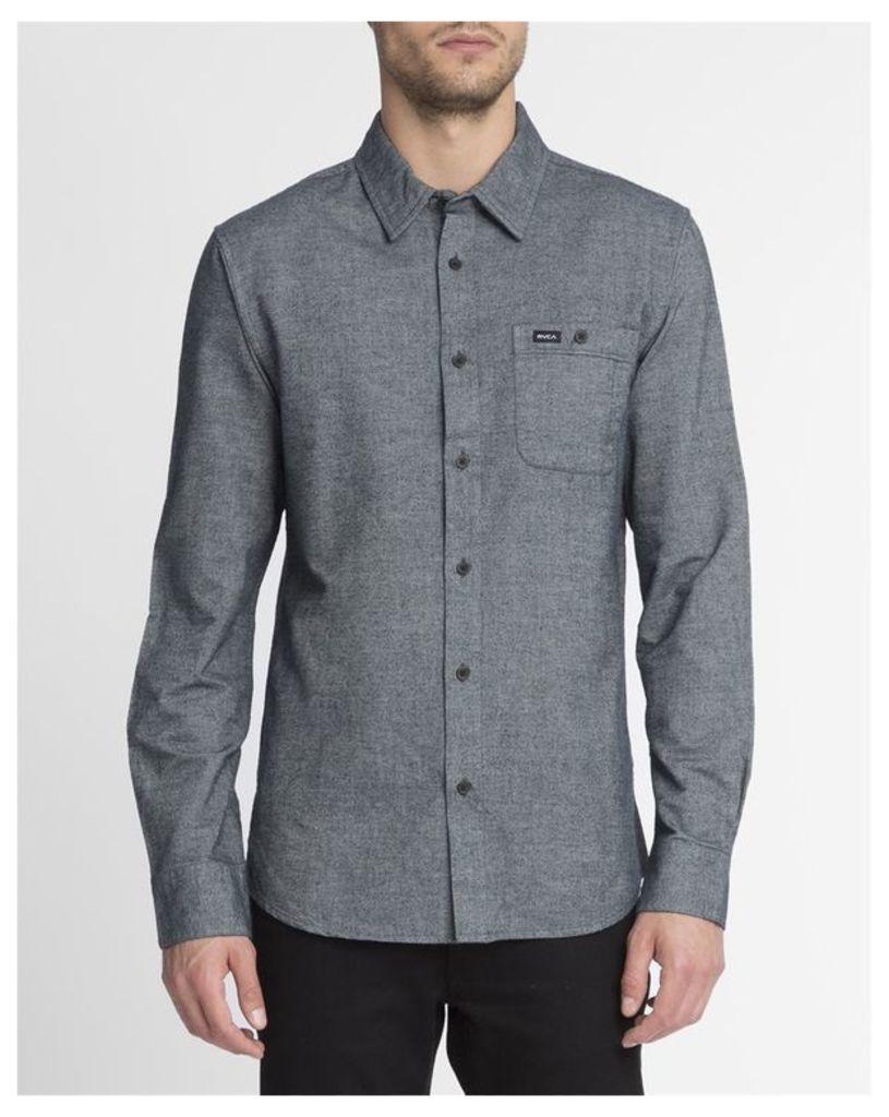 Dark Grey Breast Pocket Illusion Shirt