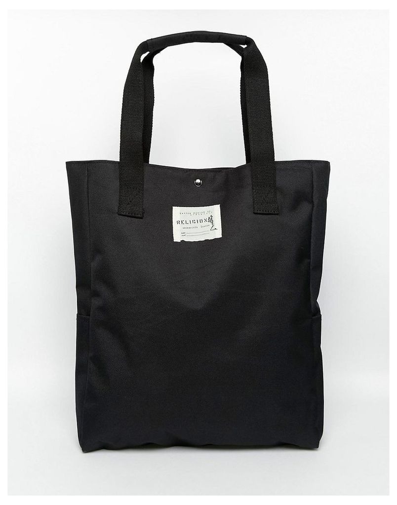 Religion Tote Bag - Black