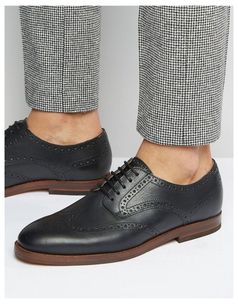 Hudson London Talbot Brogues - Black