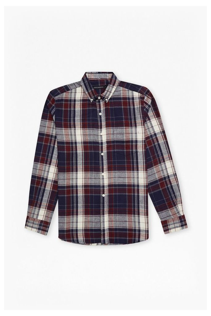 CHECKED FLANNEL SHIRT - Grey 5717