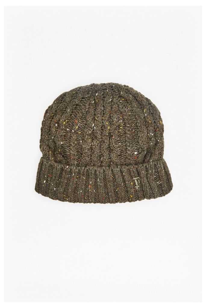 KNIC KNOX CABLE KNIT BEANIE - Coriander
