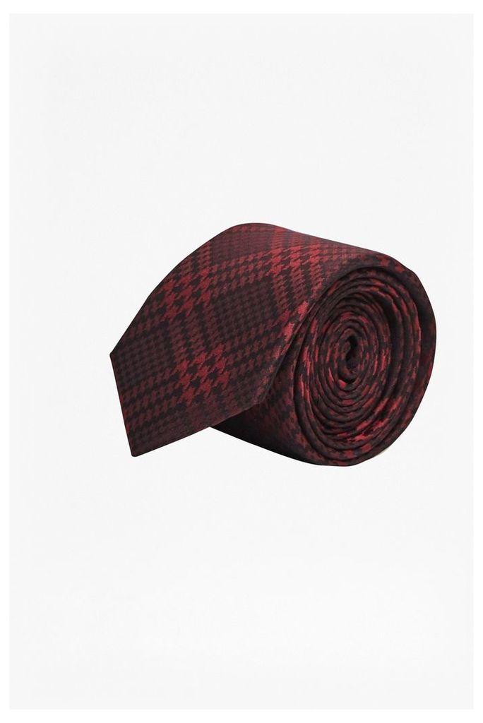 HARVEY CHECK TIE - Tibetan Red/Black